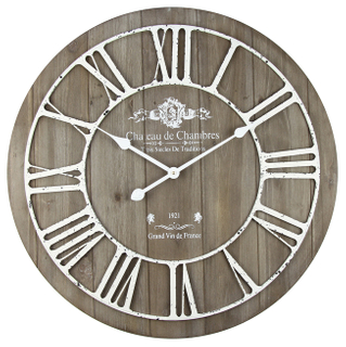 Vintage Roman Numeral Decorative Design Mdf Wall Clock