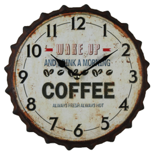 High Performance Fashion Wall Clock Creative, Bottle Cap Vintage Wall Clock Decor