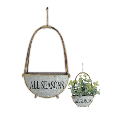 High Quality Balcony Decorative Galvanized Steel Hanging Basket