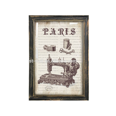 GB5604 Black Vintage Looking Wooden Mounting Plaques