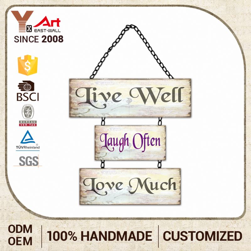 Good Quality Custom Printing Metal Craft Designs Wall Decors Signs With Text