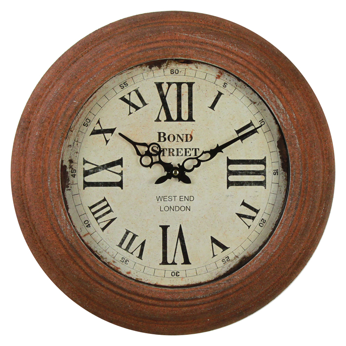 Eco-Friendly Metal Antique Wall Clock Decor