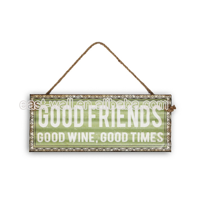 Hot Sell Promotional Decorative Metal Wall Plaque Corrugated Plaque Wall Hanging Art