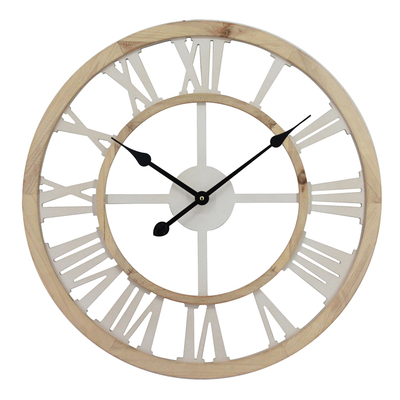 Wholesale Custom Wooden Frame Wall Clock Roman Numerals