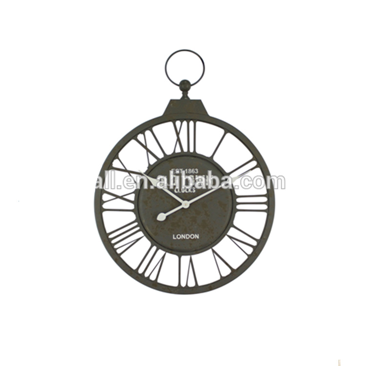 Preferential Price Handmade Iron Packing Wall Clock Household Decoration Product