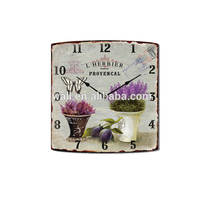 Custom Wall Clock Fancy Paintings Design Decorative Wall Clock for Living Room