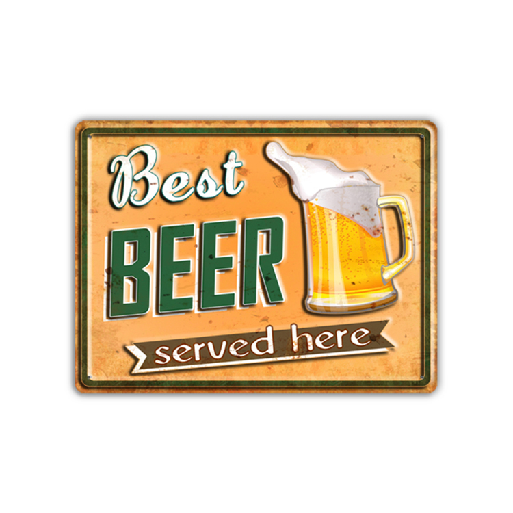 Art Home Decoration Modern Style Custom Metal Beer Sign
