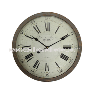 Sales Promotion French Country Tuscan Style Vintage Wooden Wall Sublimation Glass Clock
