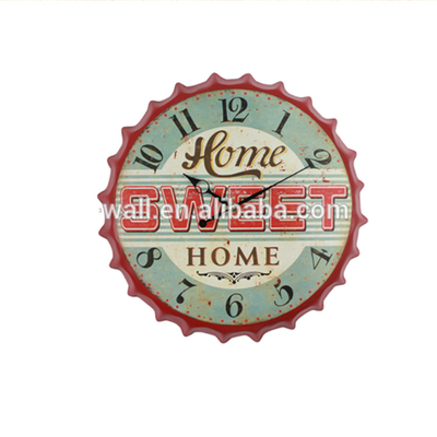Antique Style Modern Trendy Wall Clocks Sweet Home Bottle Cap Clock