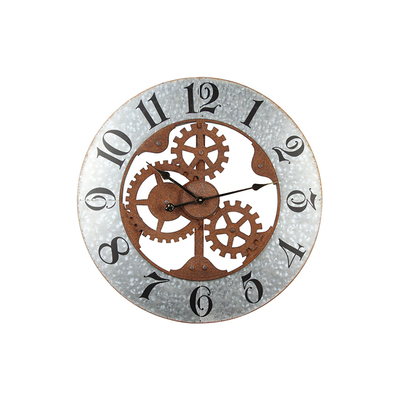 European Style for Home Decor Decor Design Clock Wall Iron Decorative Clock