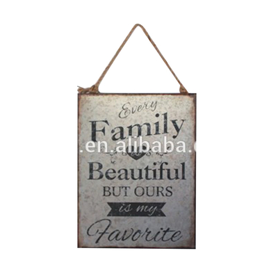 Hot Sale Craft Art Painting Wall Plaque Metal Family Sign