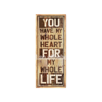Promotional Wholesale Price New Style Retro Wood Word Sign Board