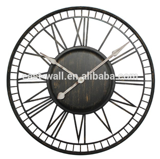 Round Iron Home Unique Artistic Wall Clock