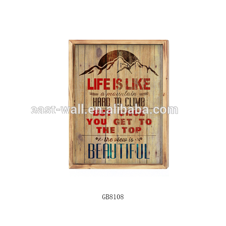 Craft Art Work Vintage Style Wall Signs Competitive Price Art Minds Wood Plaque