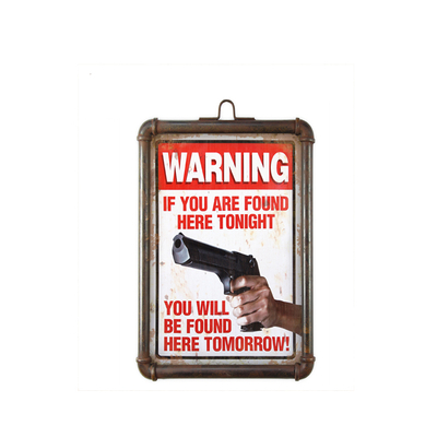 Warning Slogan Humor Metal Plaque Plate Wall Hanging Retro With Customized Various Slogans
