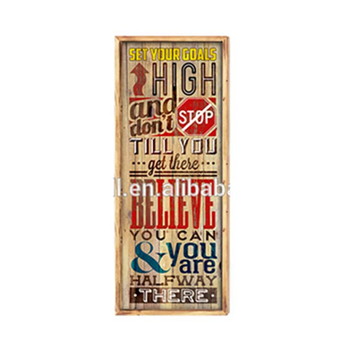 Gift Items Export Quality Cheap Price Custom Wall Hanging Large Tin Signs