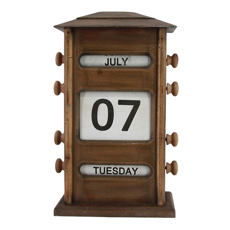 OEM durable simple home decoration metal calendar desk calendar printing
