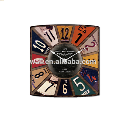 2016 New Coming Abstract Painting Pictures Custom Design Vintage Wall Clock
