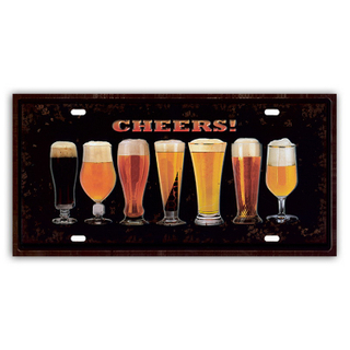 Hot selling decoration art craft signs tin signs wall plaque for bar decor