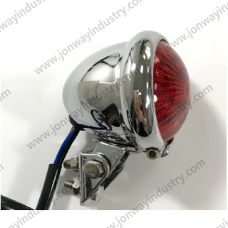 Chrome And Black Shell LED Tail Light For Harley Davidson