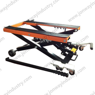 Adjustable Motorcycle Lift with wheel