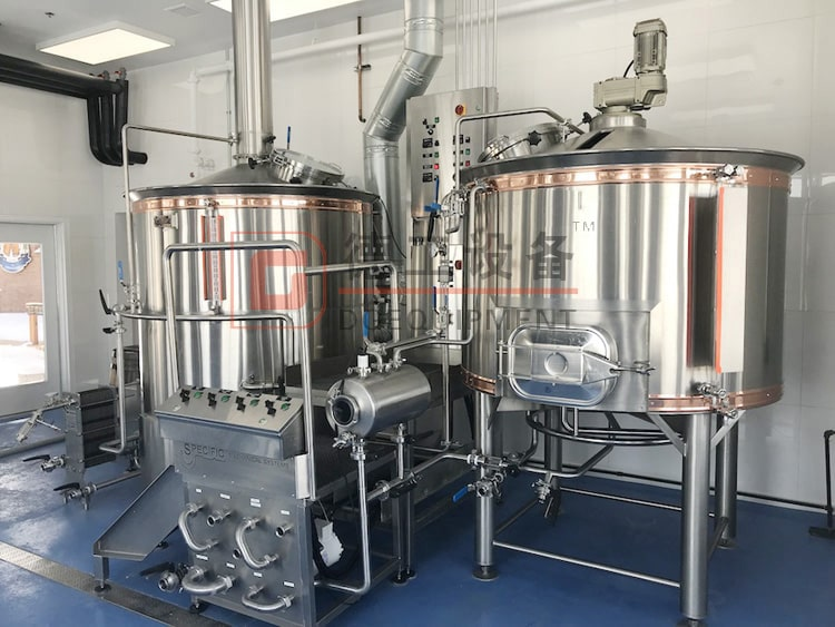 1000L 2 vessels stainless steel beer mashing system