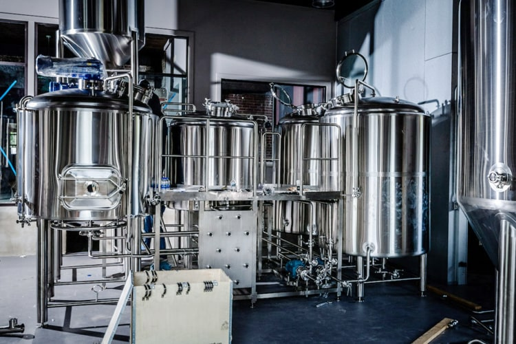 500L nano brewery equipment 3-vessel beer brewhouse