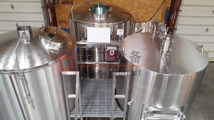 3 vessels stainless steel beer mashing system