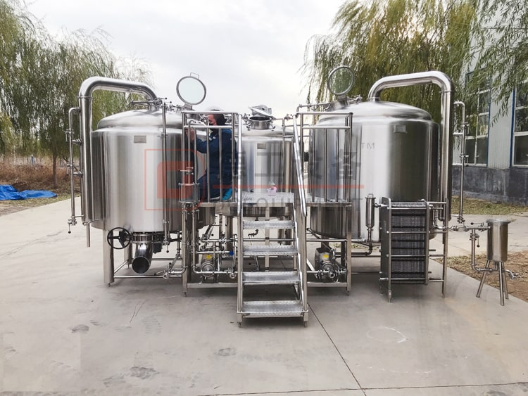 3-vessels steam heating/gas heating/electric heating brewhouse