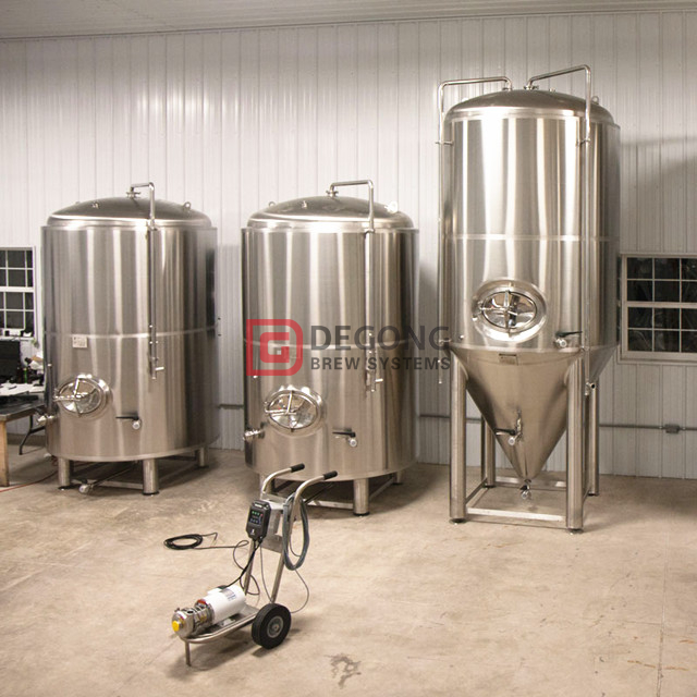 Isobaric beer fermentation tank and bright beer tank