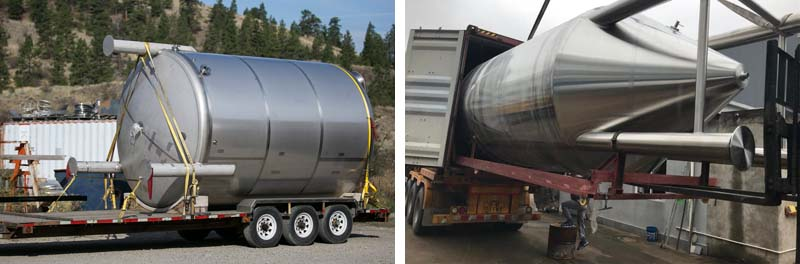 beer fermentation tank packing