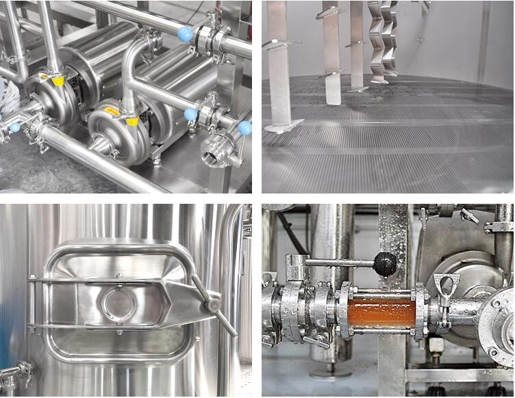Details of 3 kettle brew system