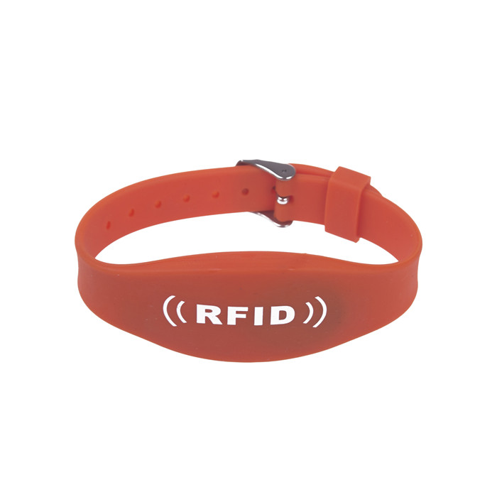 RFID Adjustable Dual Chip Silicone Wristband