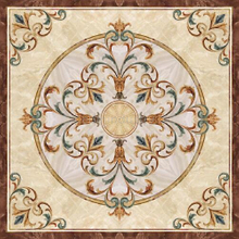 Flower Parquet Polished Golden Crystal Porcelain Floor Ceramic Carpet Tile 1200x1200mm