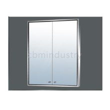 Simplify Stainless steel LED Mirror cabinet
