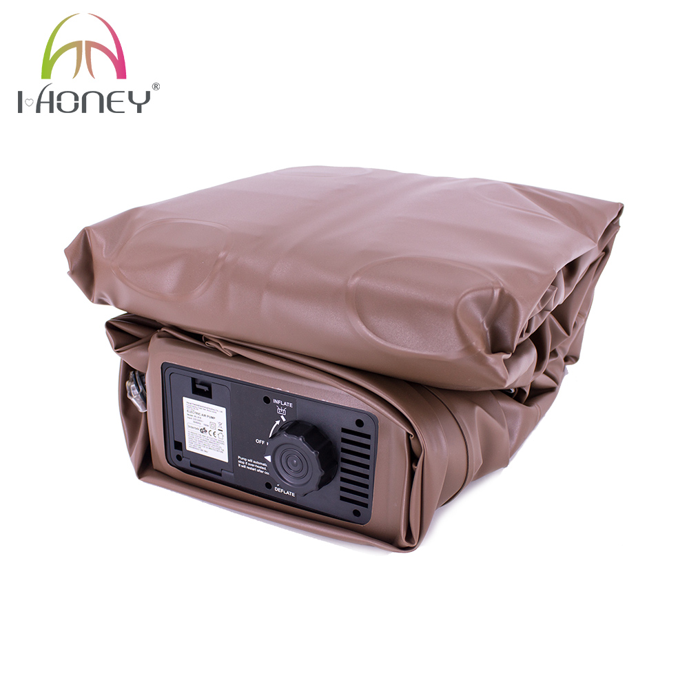 Flocked PVC Single Size Inflatable Mattress Airbed with Built-in Pump