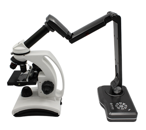 microscope with document camera