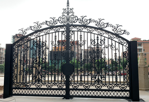 Customized modern main house door wrought iron garden gate design