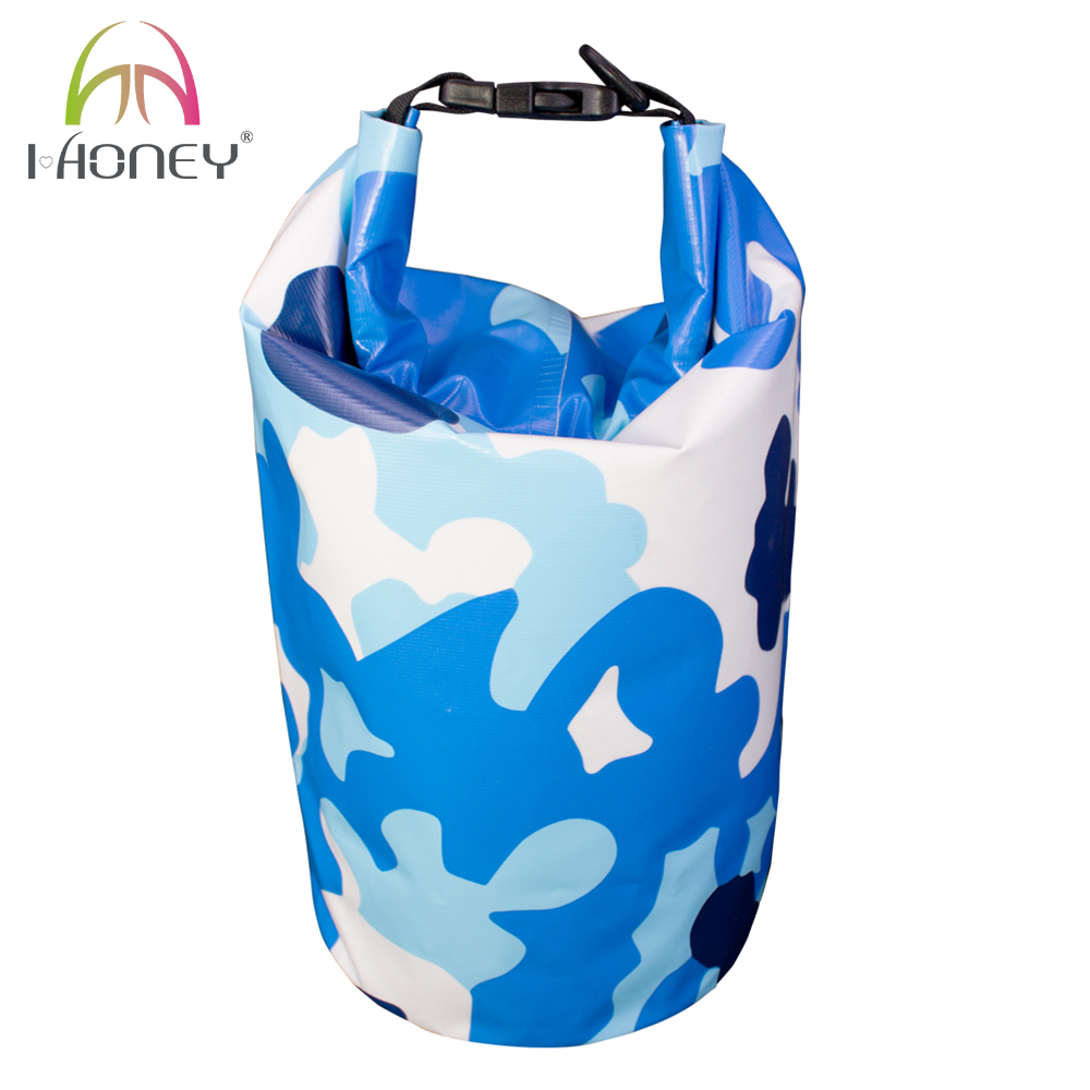 Pattren Printed 500D PVC Laminated Waterproof Dry Bag Canoe Bag