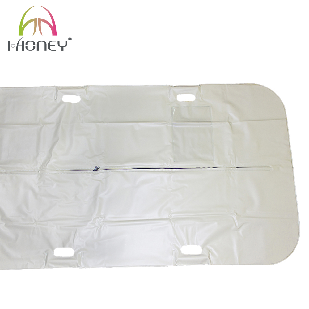 Curved Zipper PVC Corpse Bag Body Bag for Mortuary with Built-in Handles
