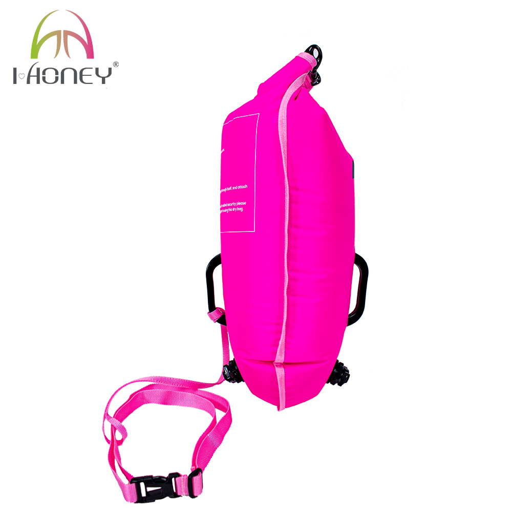 Dual Airbag and Handle Swimming Safety Buoy with Waterproof Bag
