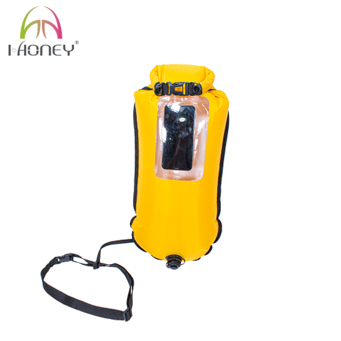 Highly Visible Safety Swim Buoy Flotation Device Buoy Tow Float for Swimmers Triathletes Snorkelers